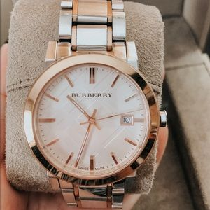 Authentic Burberry Two-tone BU9006 Watch